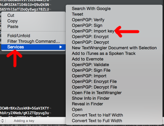 OS X text encryption with GPGTools